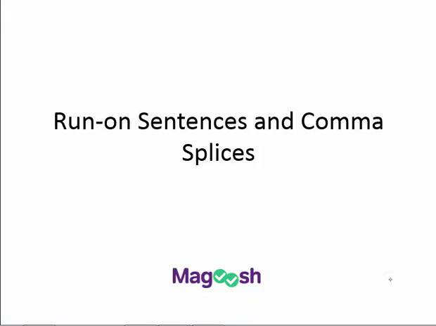 run on sentences and comma splices magoosh act